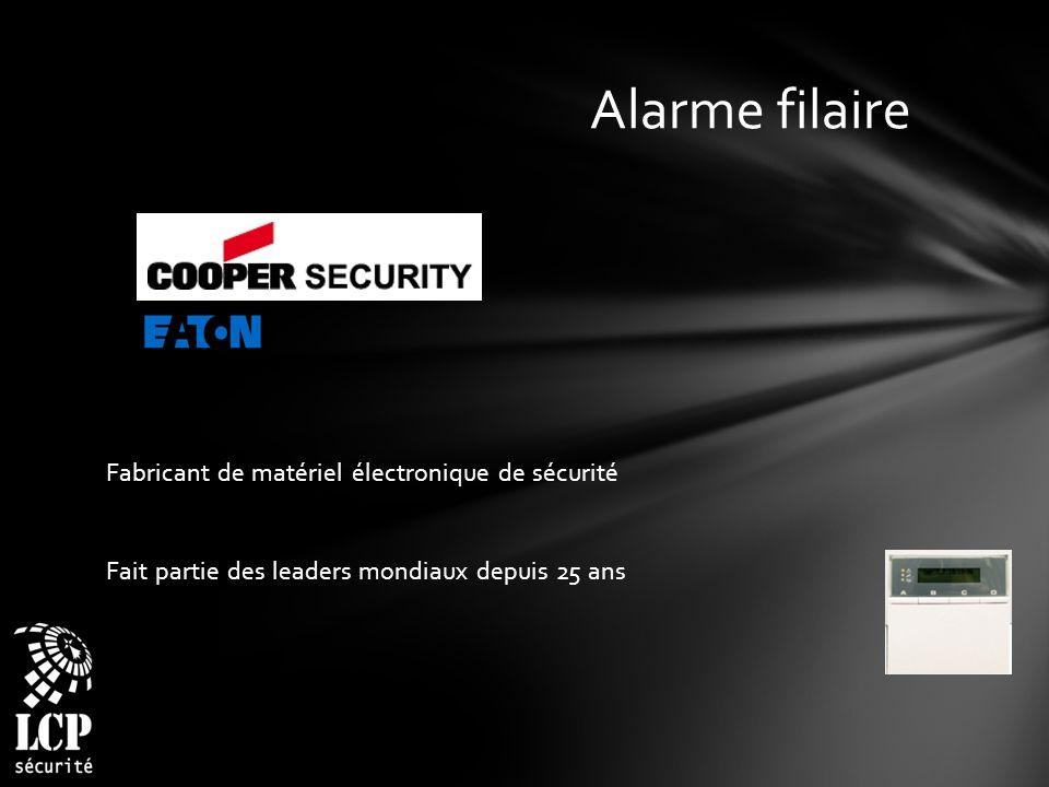 Alarme filaire Fabricant de matériel électronique de sécurité Fait partie des leaders mondiaux depuis 25 ans