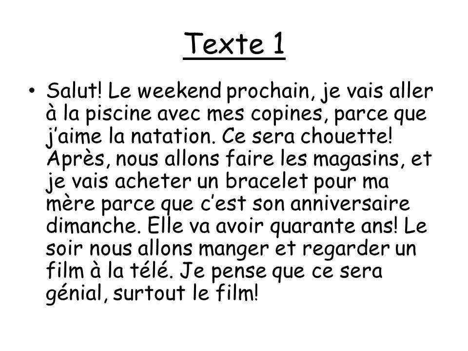 Texte 2 Bonjour.Moi, cest Sébastien, et jai quinze ans.
