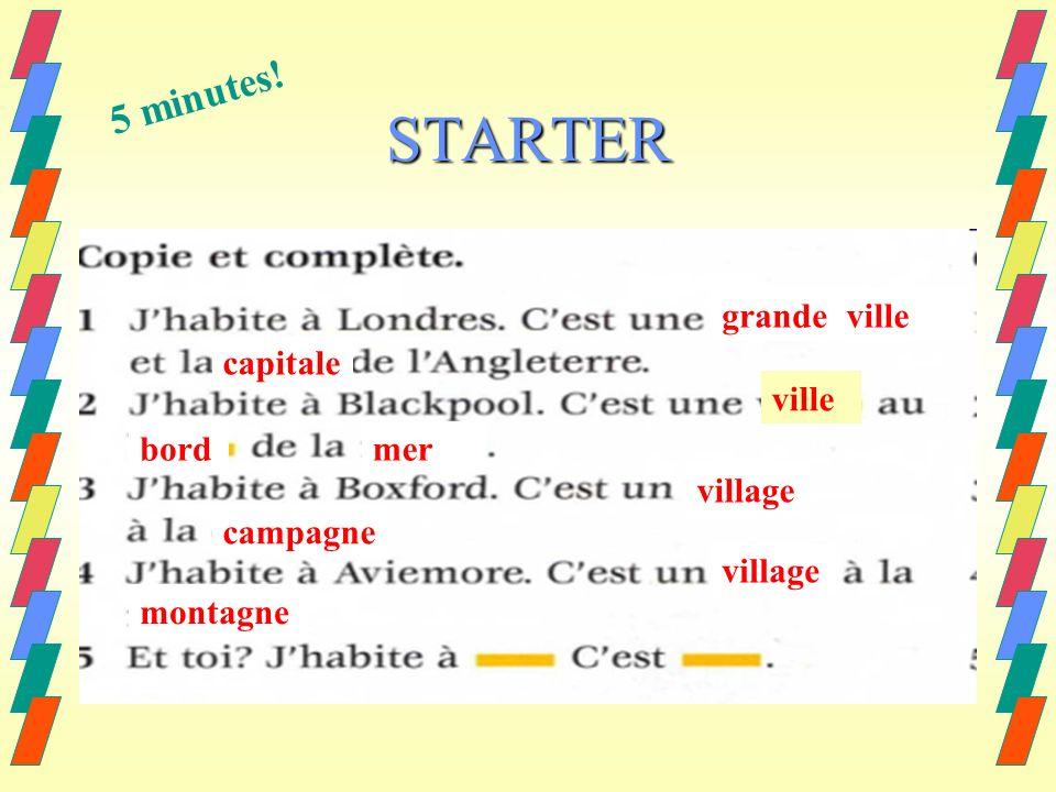 STARTER grandeville capitale ville bordmer village campagne village montagne 5 minutes!