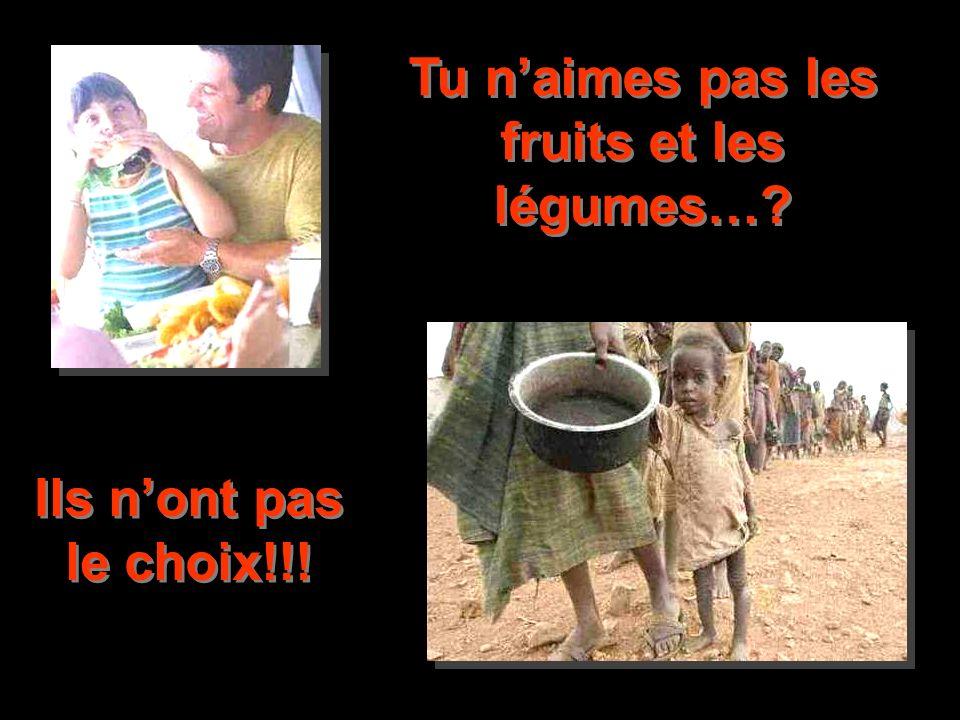 Tu naimes pas les fruits et les légumes…? Ils nont pas le choix!!!