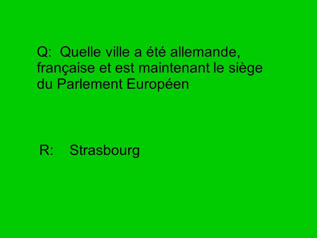 Q: La dernière bataille de Napoléon fut à R: Waterloo