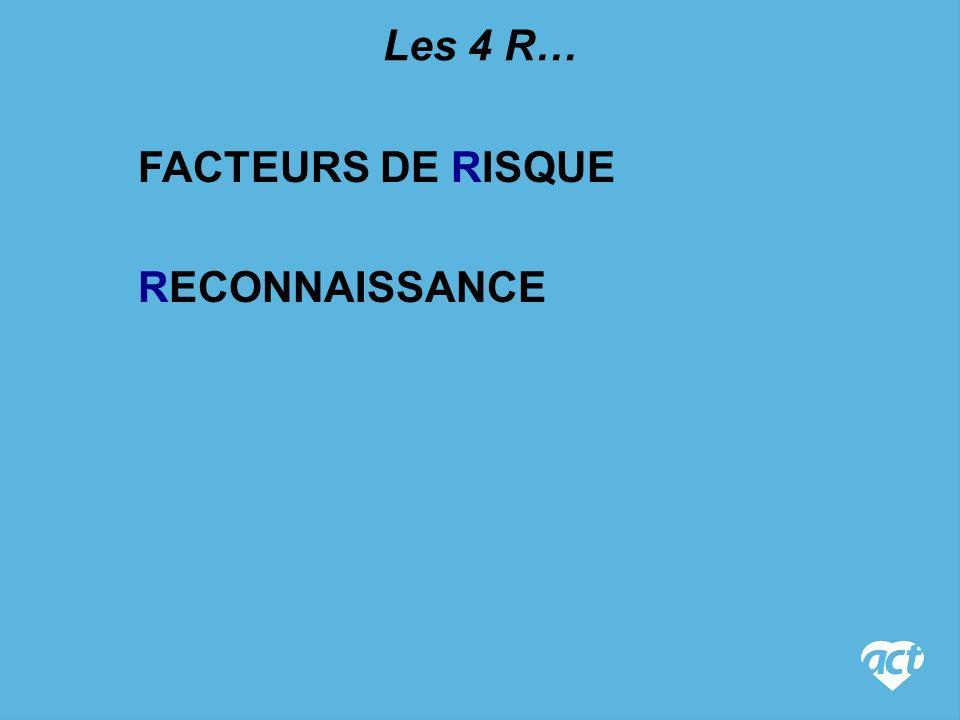 RECONNAISSANCE Les 4 R… FACTEURS DE RISQUE