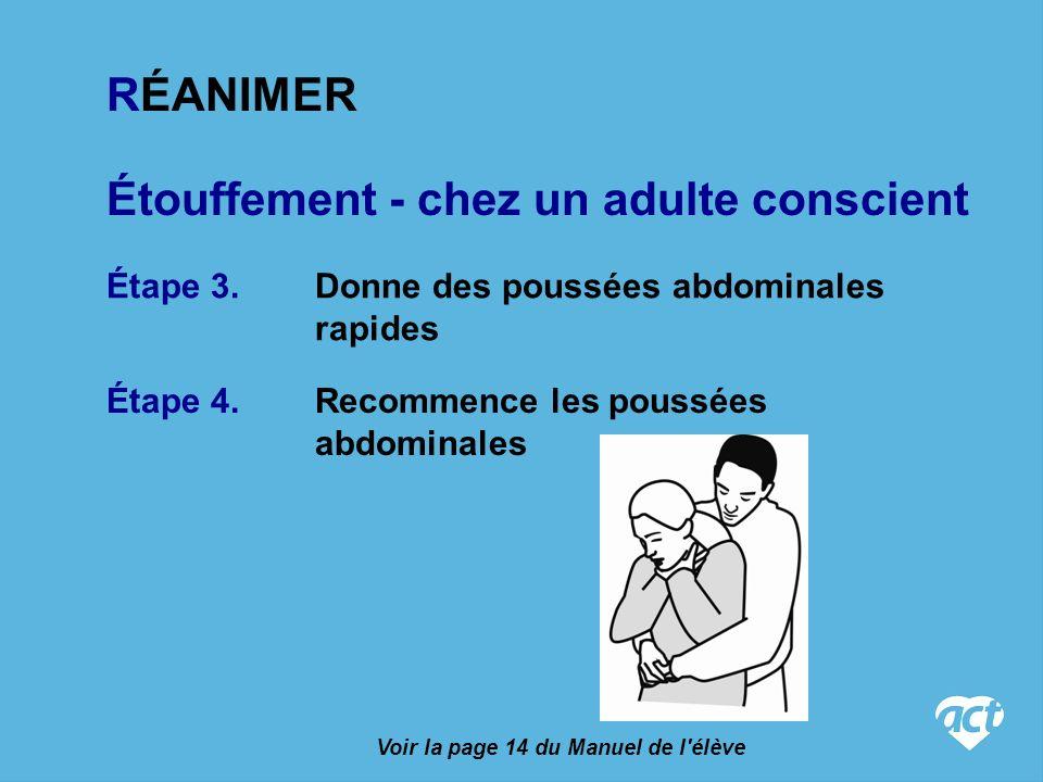 Étouffement - chez un adulte conscient Étape 4.Recommence les poussées abdominales Étape 3.