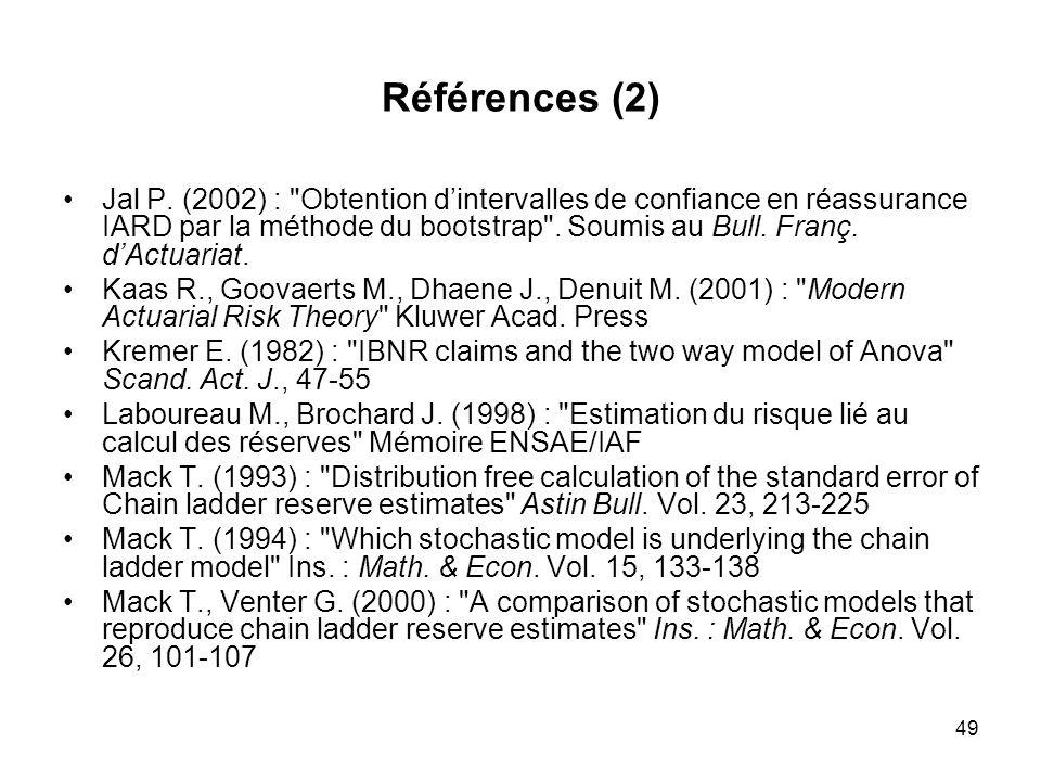 49 Références (2) Jal P. (2002) :