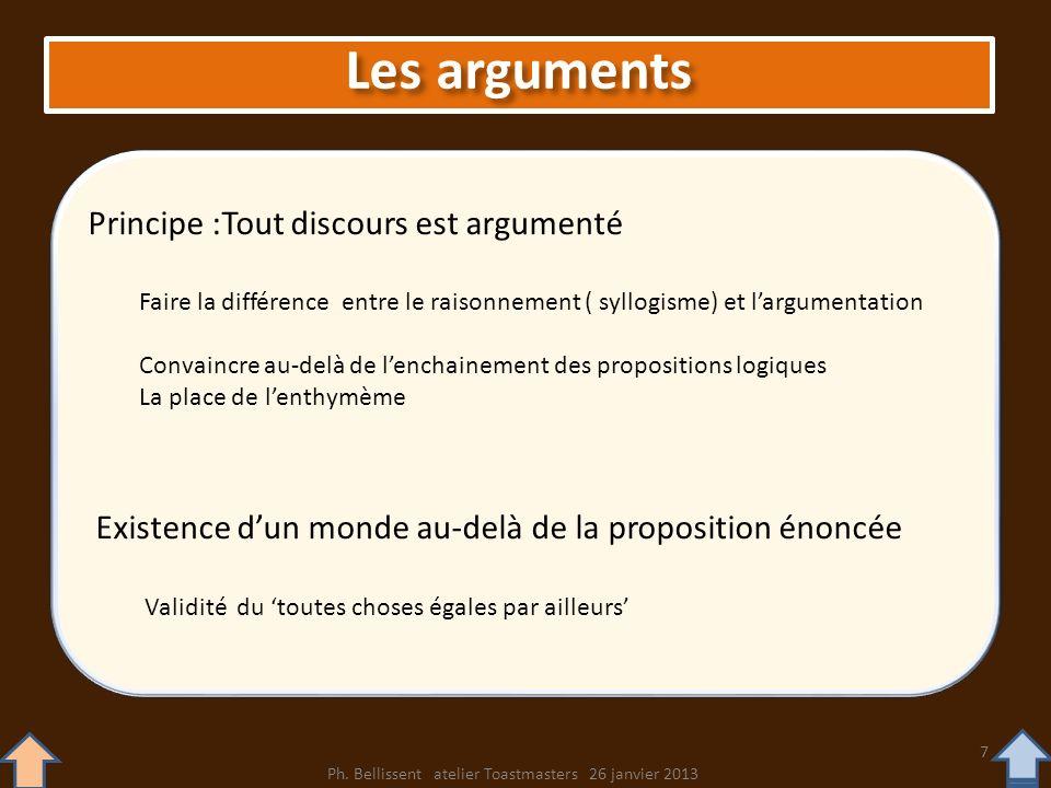 Principe :Tout discours est argumenté Faire la différence entre le raisonnement ( syllogisme) et largumentation Convaincre au-delà de lenchainement de