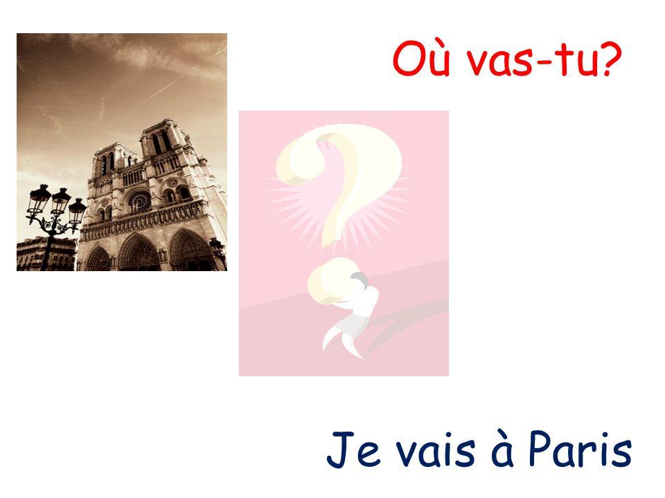 Où vas-tu? Je vais à Paris