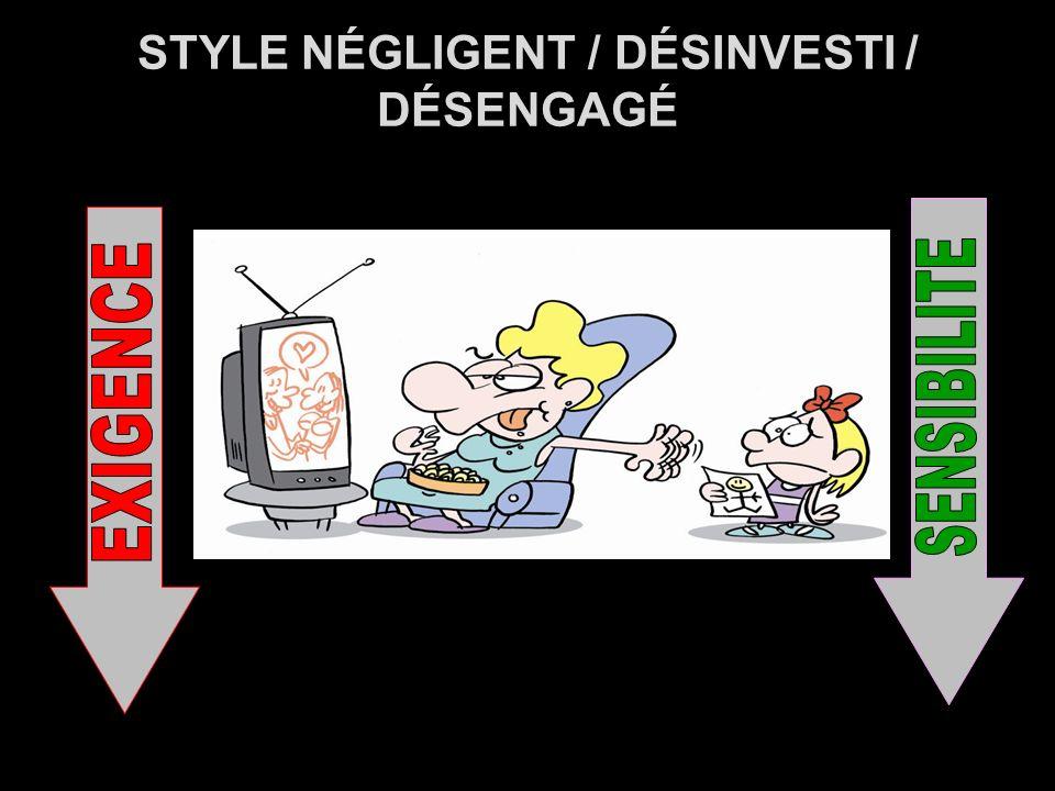 STYLE NÉGLIGENT / DÉSINVESTI / DÉSENGAGÉ