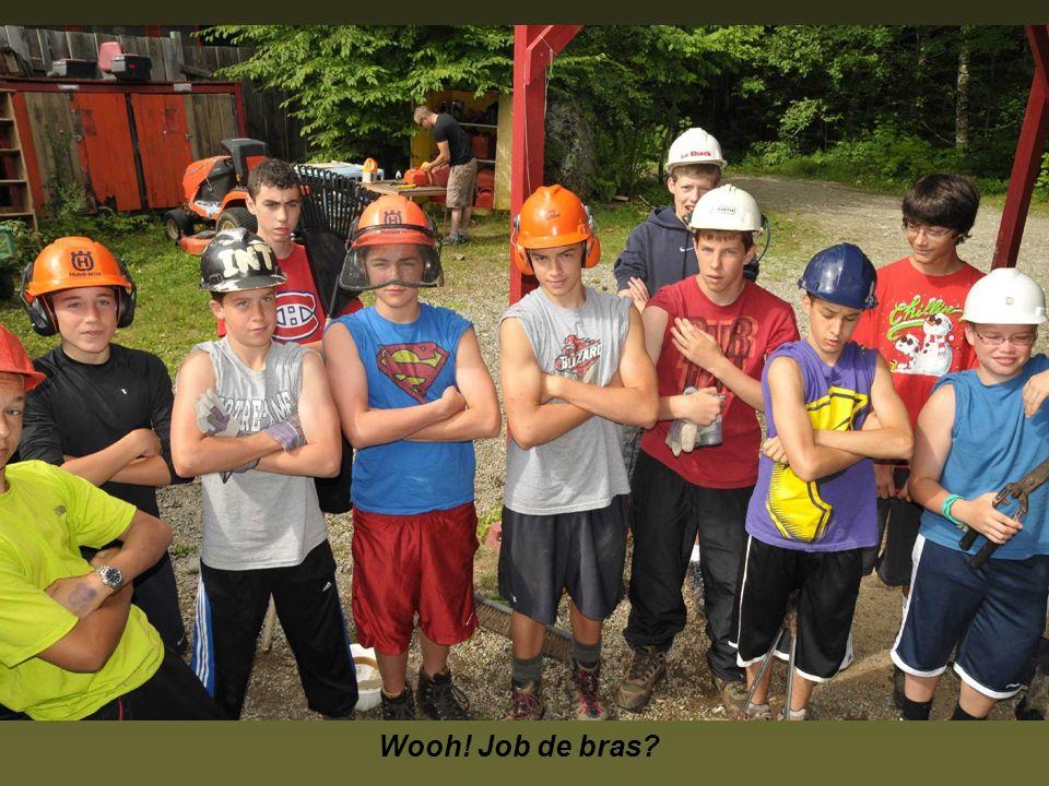 Pour chaque groupe de pionnières et pionniers quelques 48 heures sont consacrées à faire des projets au camp et en Piste Appalaches.