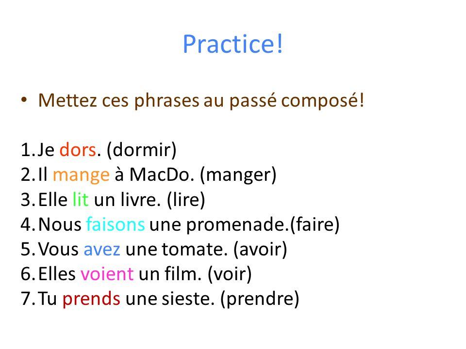 KEY VOCAB WORDS: indicate the need for lImparfait Quelquefois Souvent DHabitude Toujours Le lundi, Le week-end, etc.