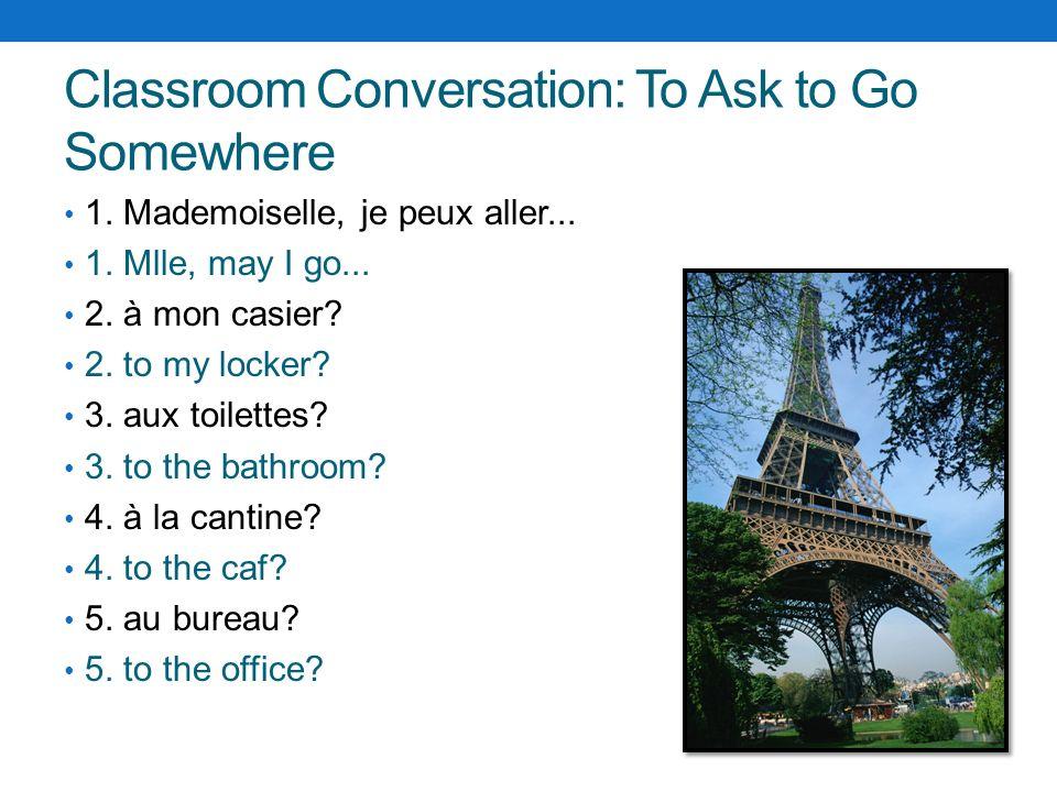 Classroom Conversation: Teacher Commands 1.Levez-vous 1.