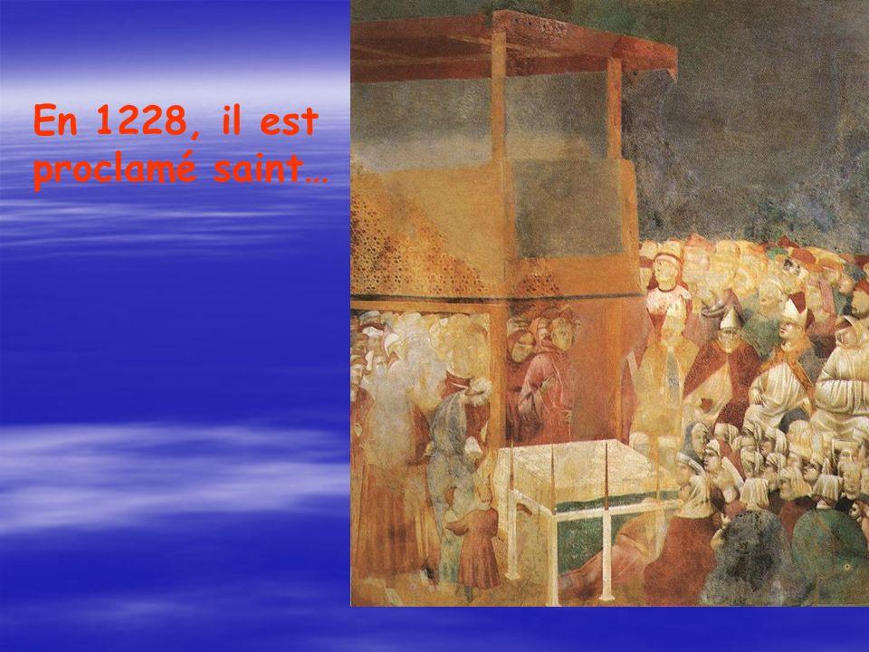 En 1228, il est proclamé saint…