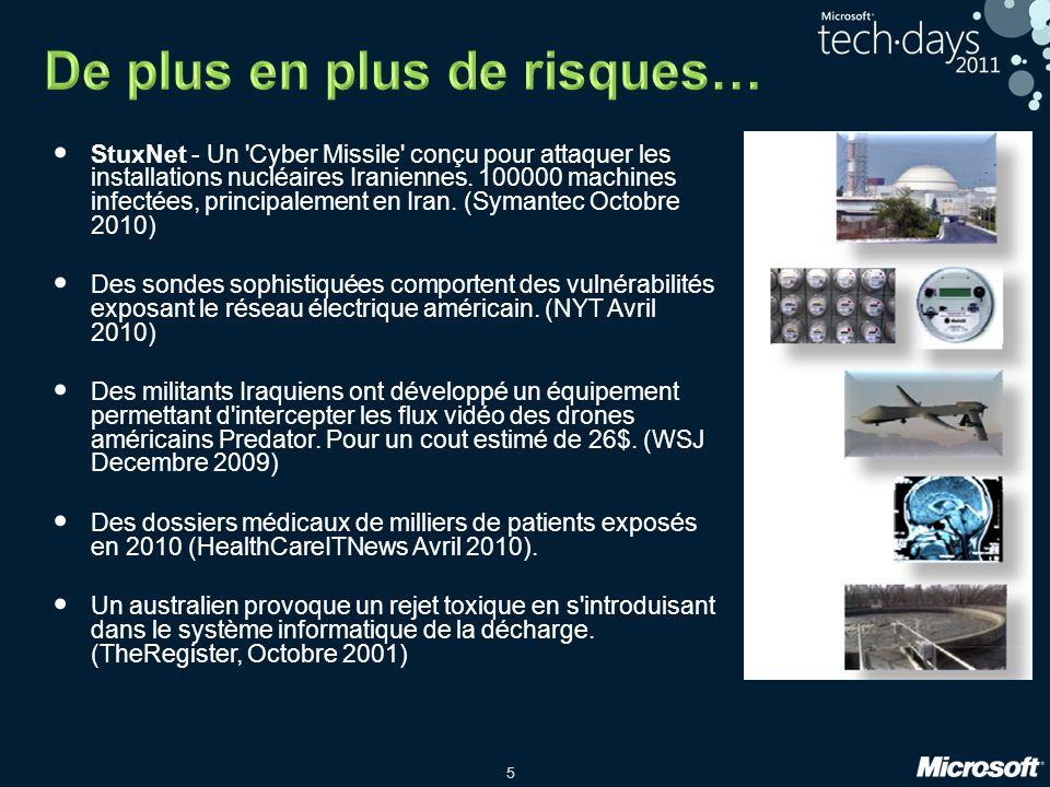 5 StuxNet - Un Cyber Missile conçu pour attaquer les installations nucléaires Iraniennes.