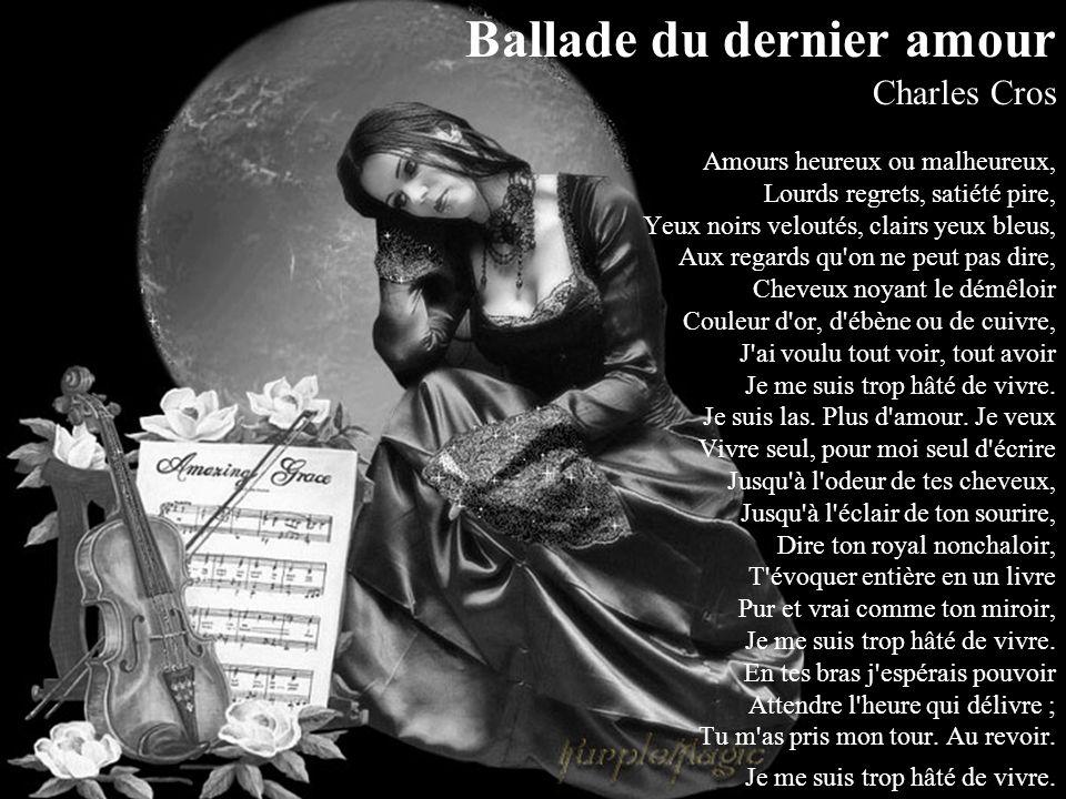 La Rose et le Réséda Celui qui croyait au ciel Celui qui n'y croyait pas Tous deux adoraient la belle Prisonnière des soldats Lequel montait à l'échel