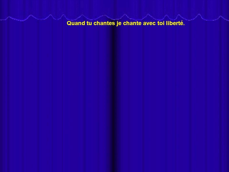 În această prezentare, Nana Mouskouri cântă Va pensiero din opera Nabucco de Giuseppe Verdi, în limba franceză JE Chante AVEC TOI, Liberté (Cânt cu tine, Libertate).