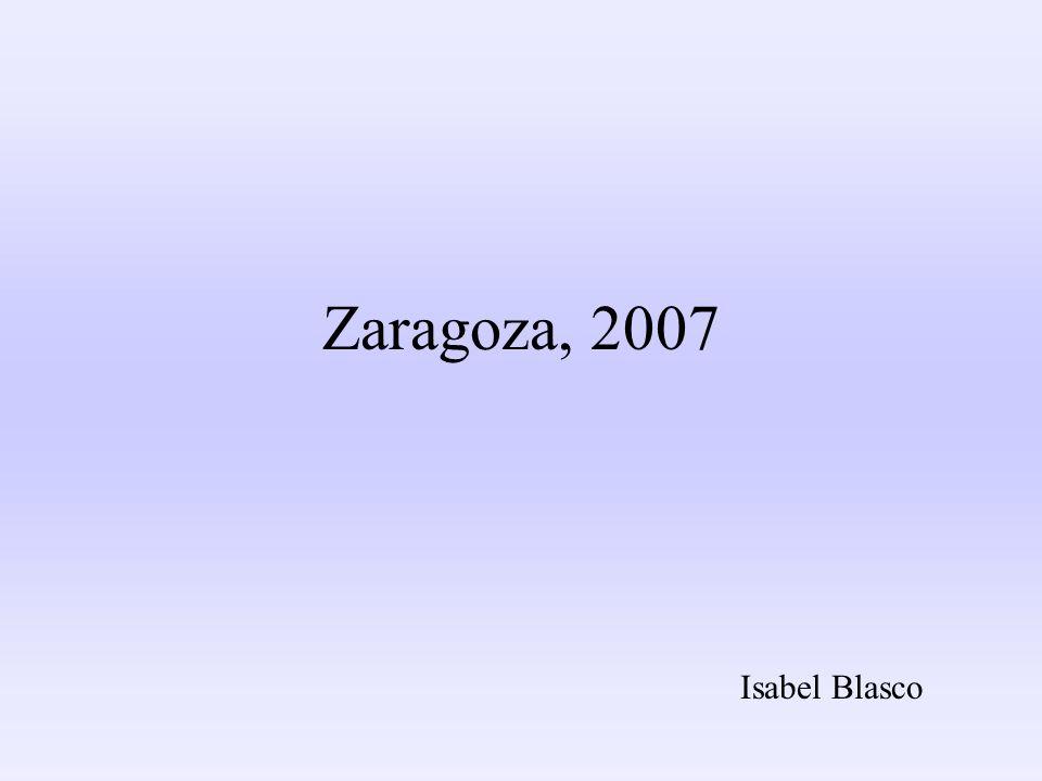 Zaragoza, 2007 Isabel Blasco