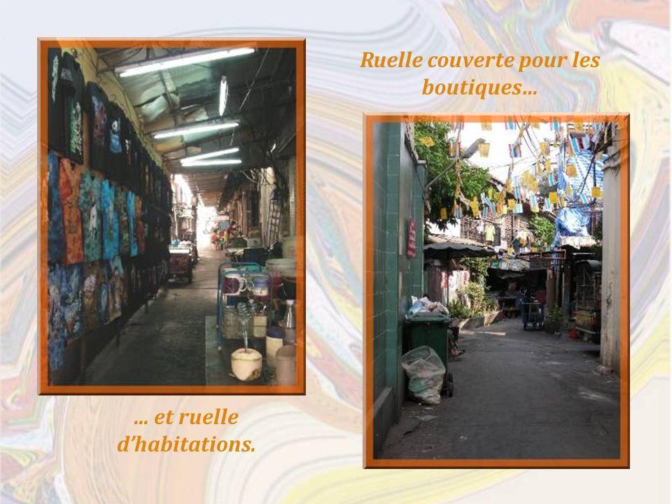 Ruelle couverte pour les boutiques…... et ruelle dhabitations.