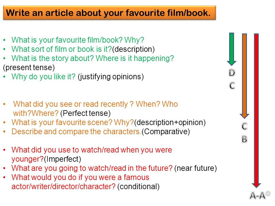 What is your favourite film/book. Why.