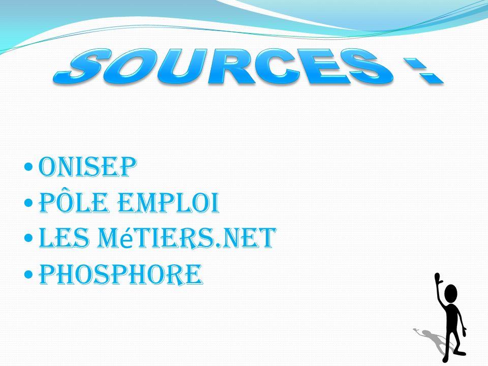 Onisep Pôle emploi Les m é tiers.net Phosphore