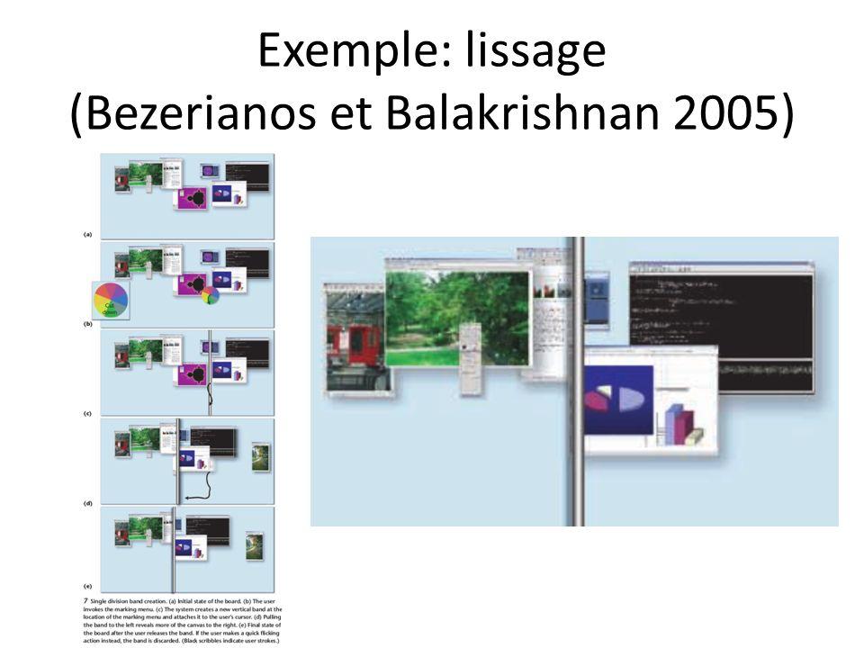Exemple: lissage (Bezerianos et Balakrishnan 2005)