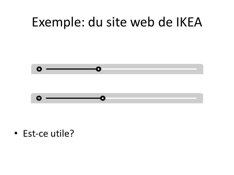 Exemple: du site web de IKEA Est-ce utile?