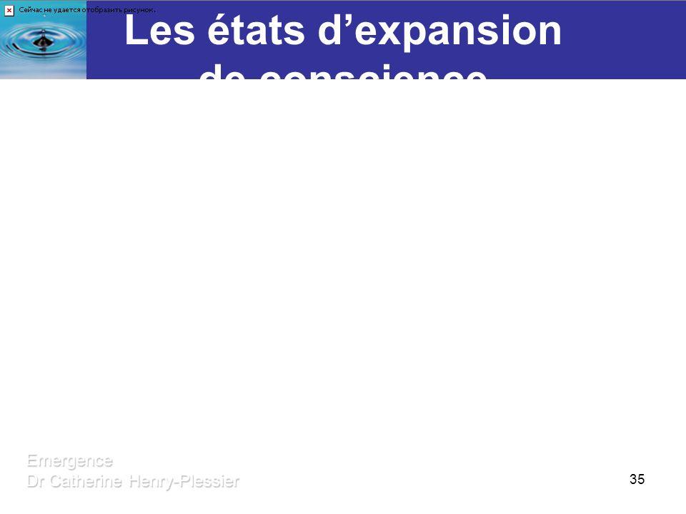 35 Les états dexpansion de conscience Des outils au service de la VieEmergence Dr Catherine Henry-Plessier