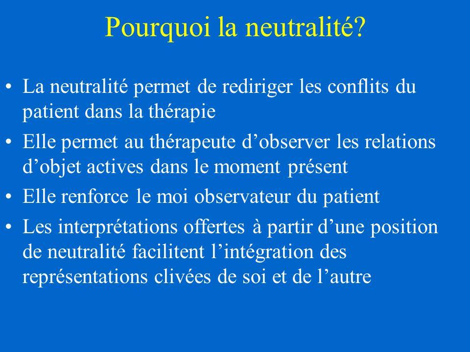 Pourquoi la neutralité.