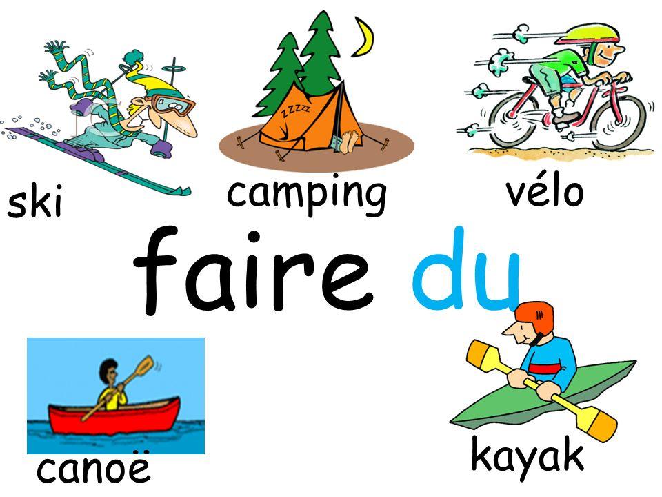 faire du vélo kayak camping ski canoë