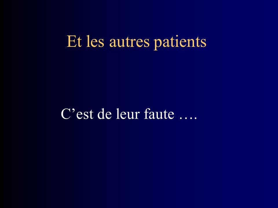 Et les autres patients Cest de leur faute ….
