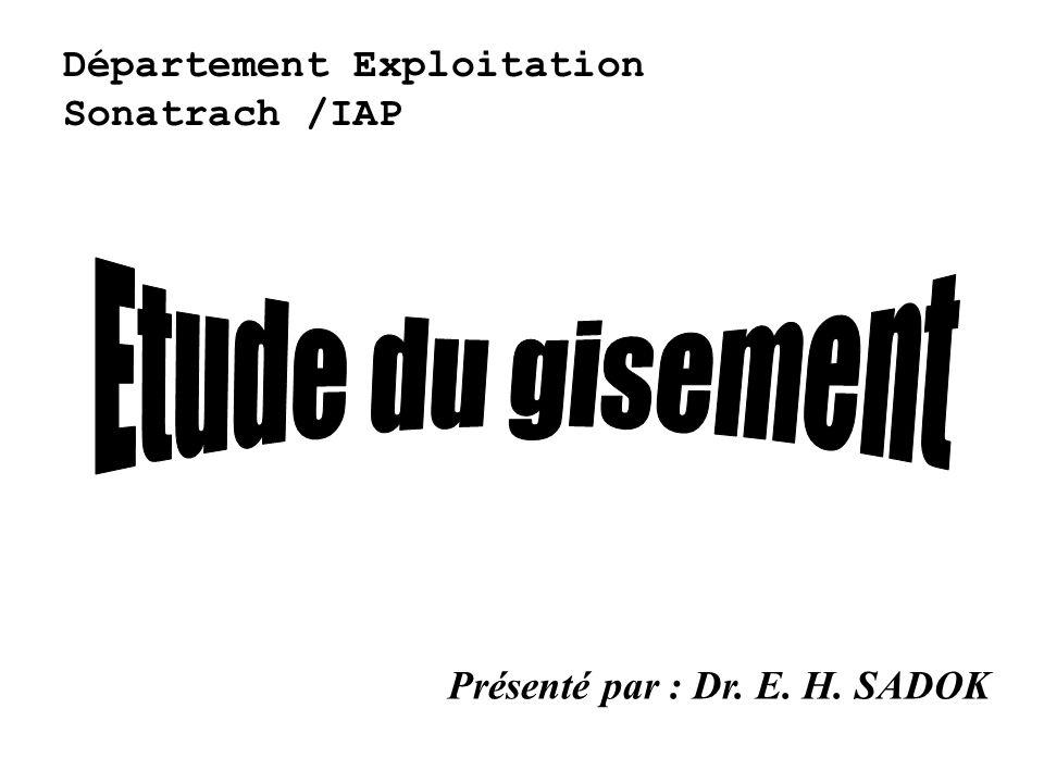 Département Exploitation Sonatrach /IAP Présenté par : Dr. E. H. SADOK