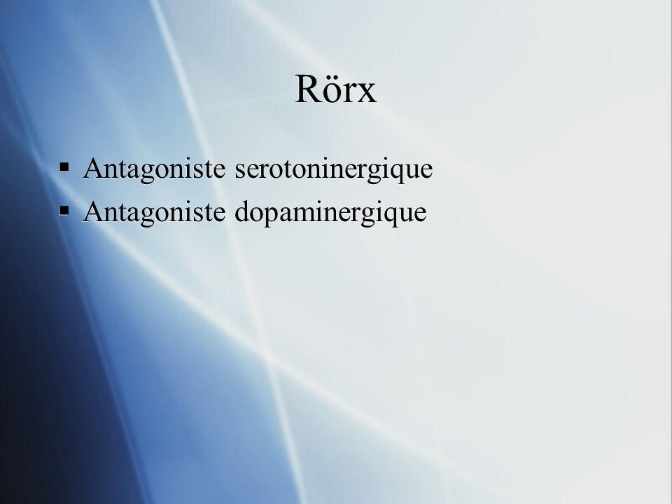Rörx Antagoniste serotoninergique Antagoniste dopaminergique Antagoniste serotoninergique Antagoniste dopaminergique