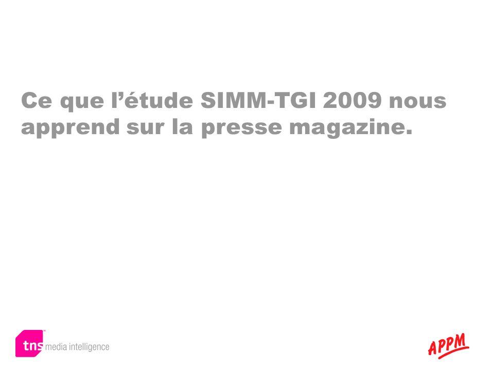 Ce que létude SIMM-TGI 2009 nous apprend sur la presse magazine.