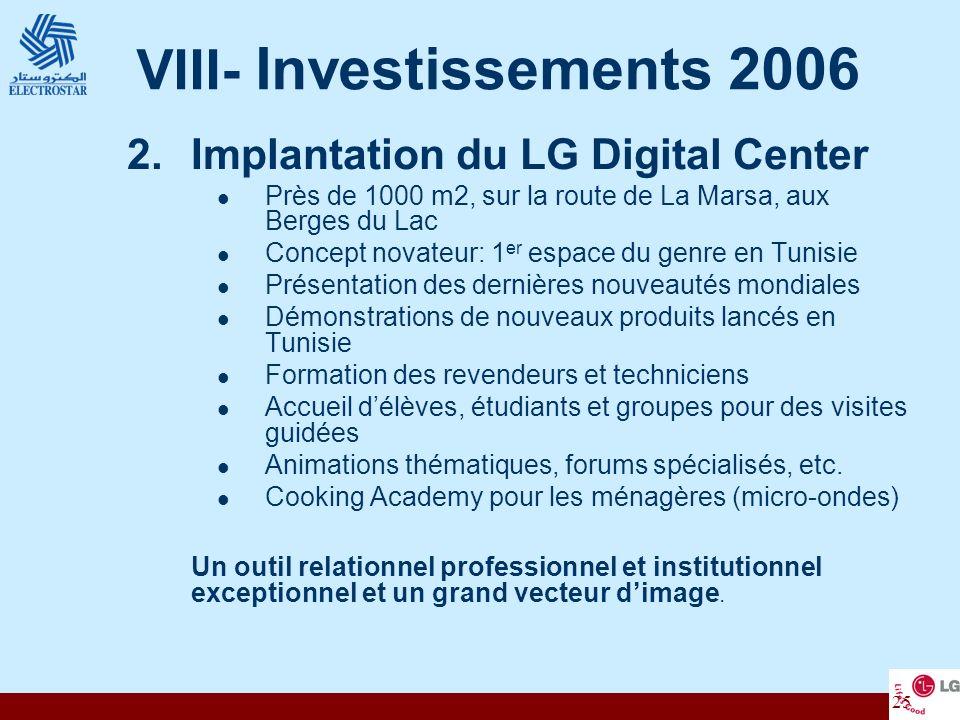 25 2.Implantation du LG Digital Center Près de 1000 m2, sur la route de La Marsa, aux Berges du Lac Concept novateur: 1 er espace du genre en Tunisie