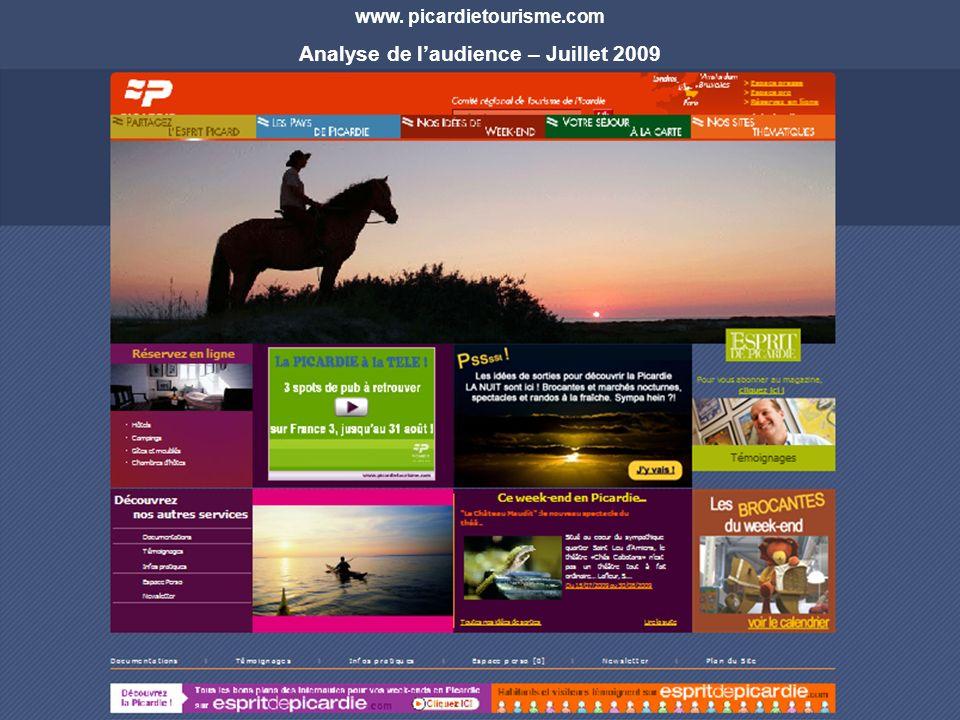 www. picardietourisme.com Analyse de laudience – Juillet 2009