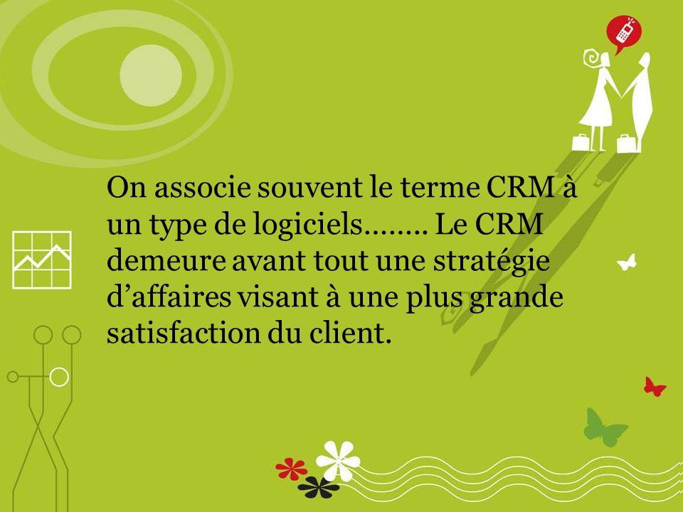 On associe souvent le terme CRM à un type de logiciels……..