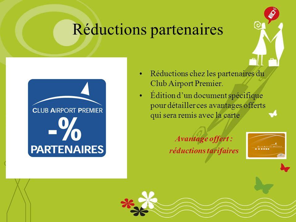 Réductions partenaires Réductions chez les partenaires du Club Airport Premier.