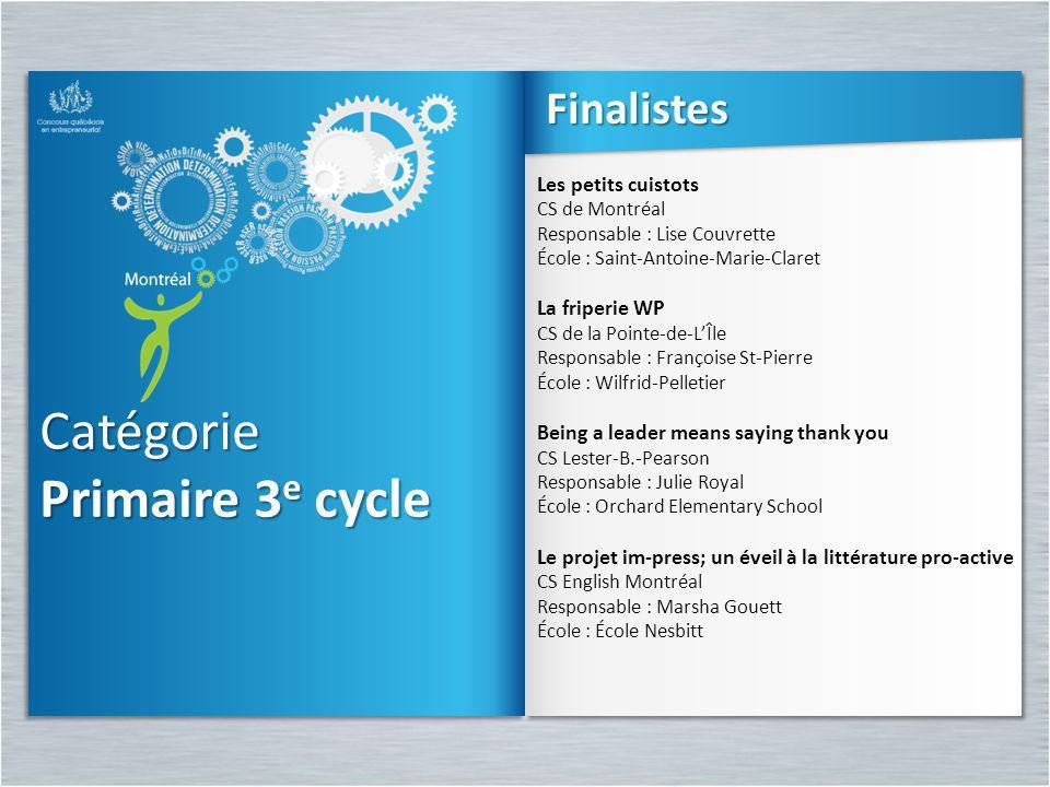 Catégorie Primaire 3 e cycle Catégorie Les petits cuistots CS de Montréal Responsable : Lise Couvrette École : Saint-Antoine-Marie-Claret La friperie
