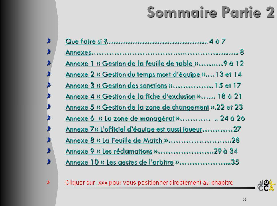 Sommaire Partie 2 Sommaire Partie 2 Que faire si ?Que faire si ?............................................................ 4 à 7 Que faire si ? Anne