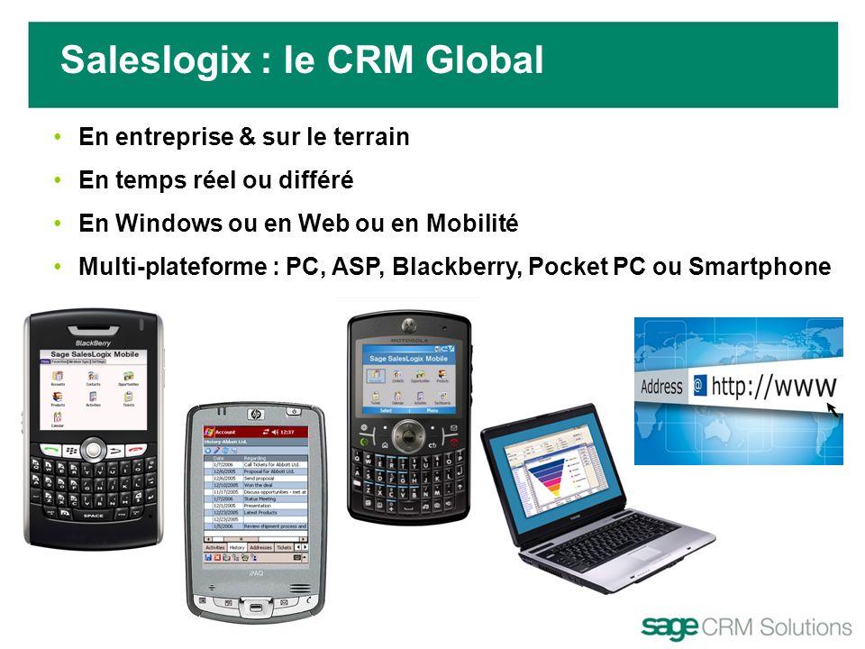 En entreprise & sur le terrain En temps réel ou différé En Windows ou en Web ou en Mobilité Multi-plateforme : PC, ASP, Blackberry, Pocket PC ou Smart