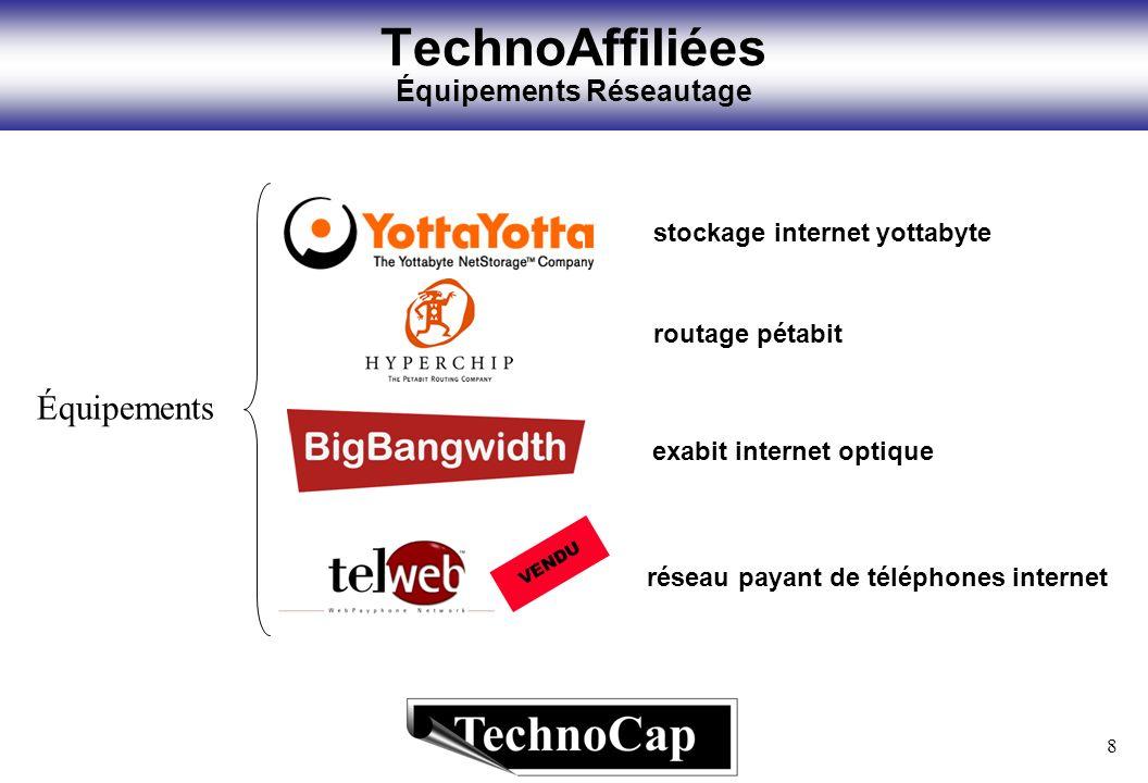 8 TechnoAffiliées Équipements Réseautage Équipements réseau payant de téléphones internet VENDU routage pétabit stockage internet yottabyte exabit int