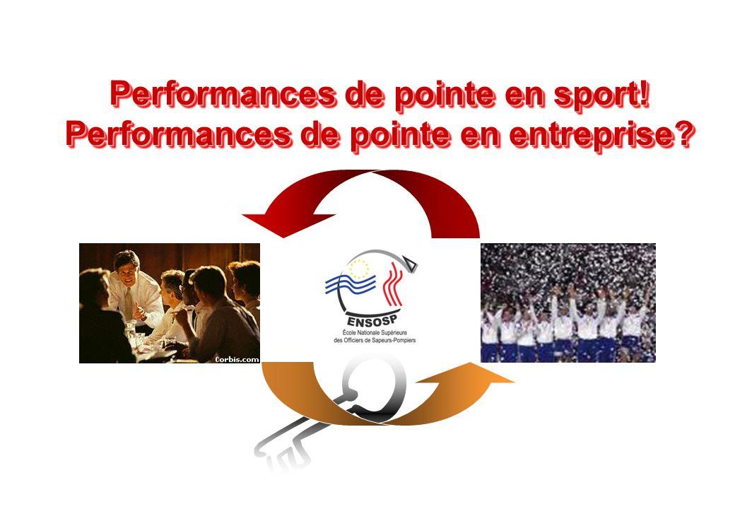 © J-P. Egger, H. Müller Performances de pointe en sport! Performances de pointe en entreprise? Performances de pointe en sport! Performances de pointe