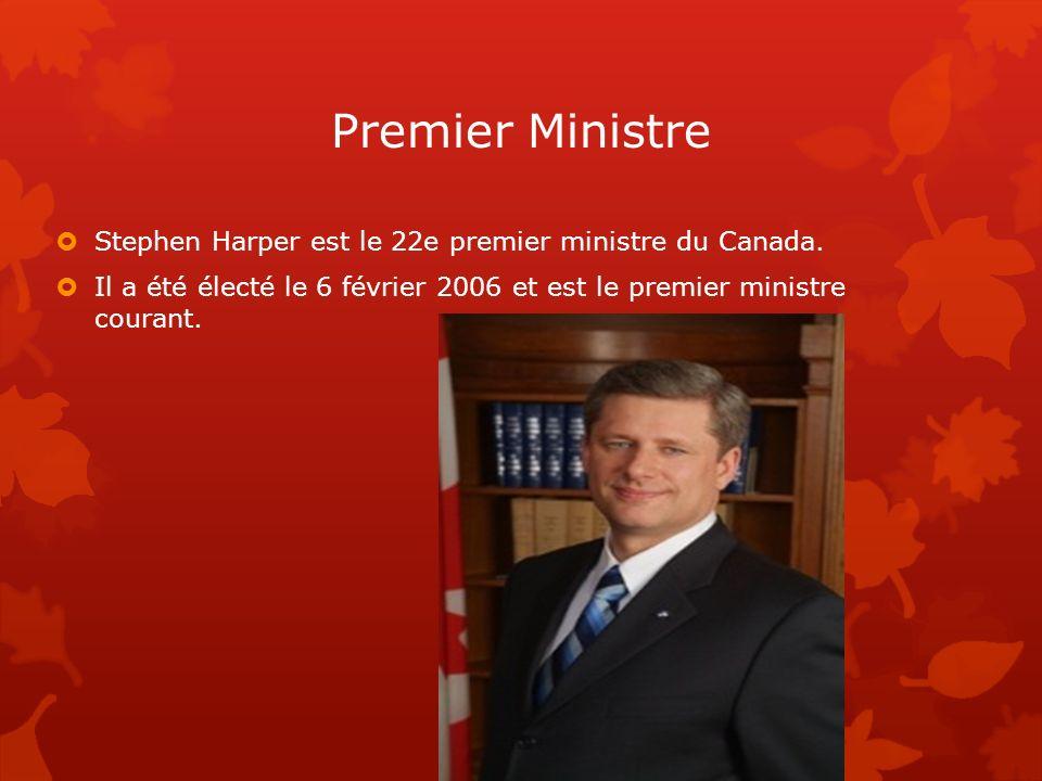 Premier Ministre Stephen Harper est le 22e premier ministre du Canada.