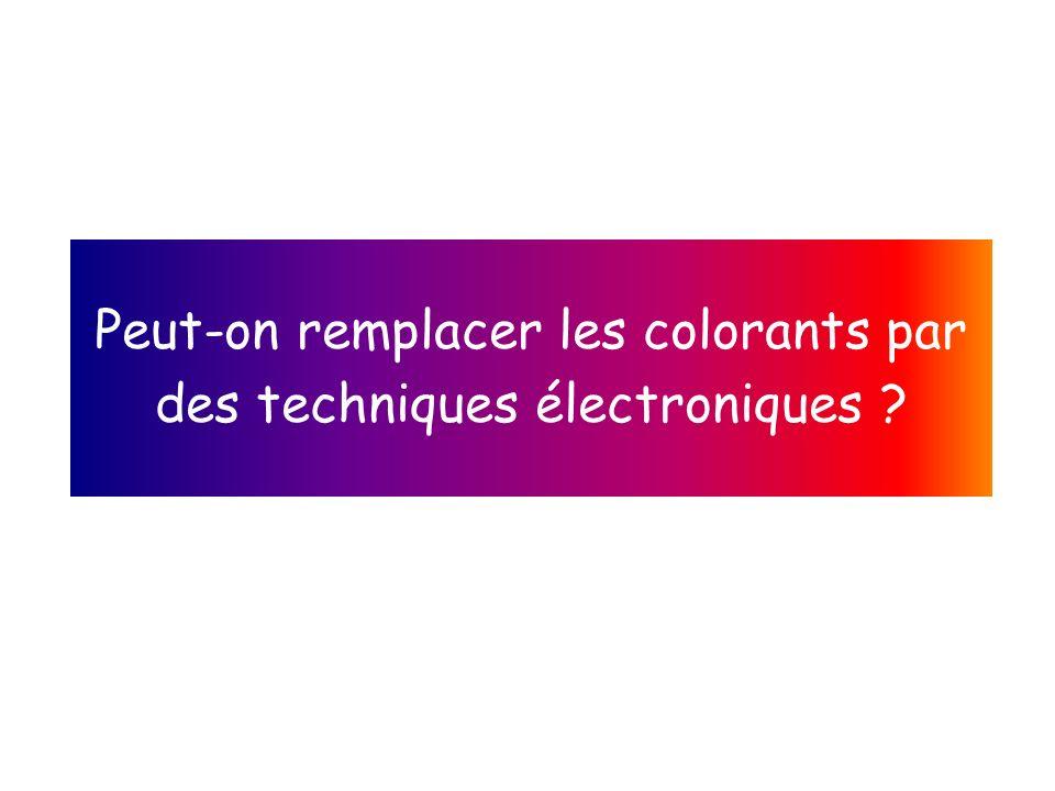 Peut-on remplacer les colorants par des techniques électroniques ?