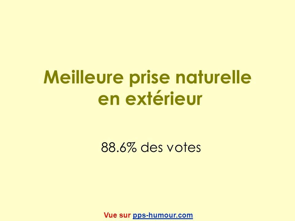 Meilleure prise naturelle en extérieur 88.6% des votes Vue sur pps-humour.compps-humour.com