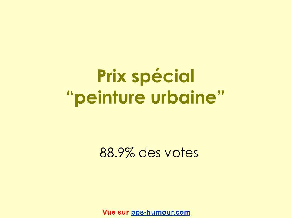 Prix spécial peinture urbaine 88.9% des votes Vue sur pps-humour.compps-humour.com