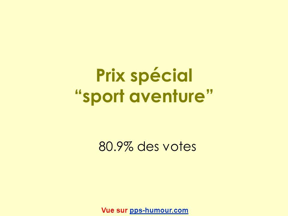 Prix spécial sport aventure 80.9% des votes Vue sur pps-humour.compps-humour.com