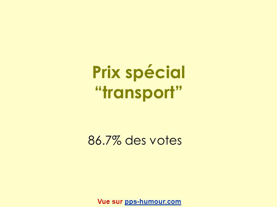 Prix spécial transport 86.7% des votes Vue sur pps-humour.compps-humour.com