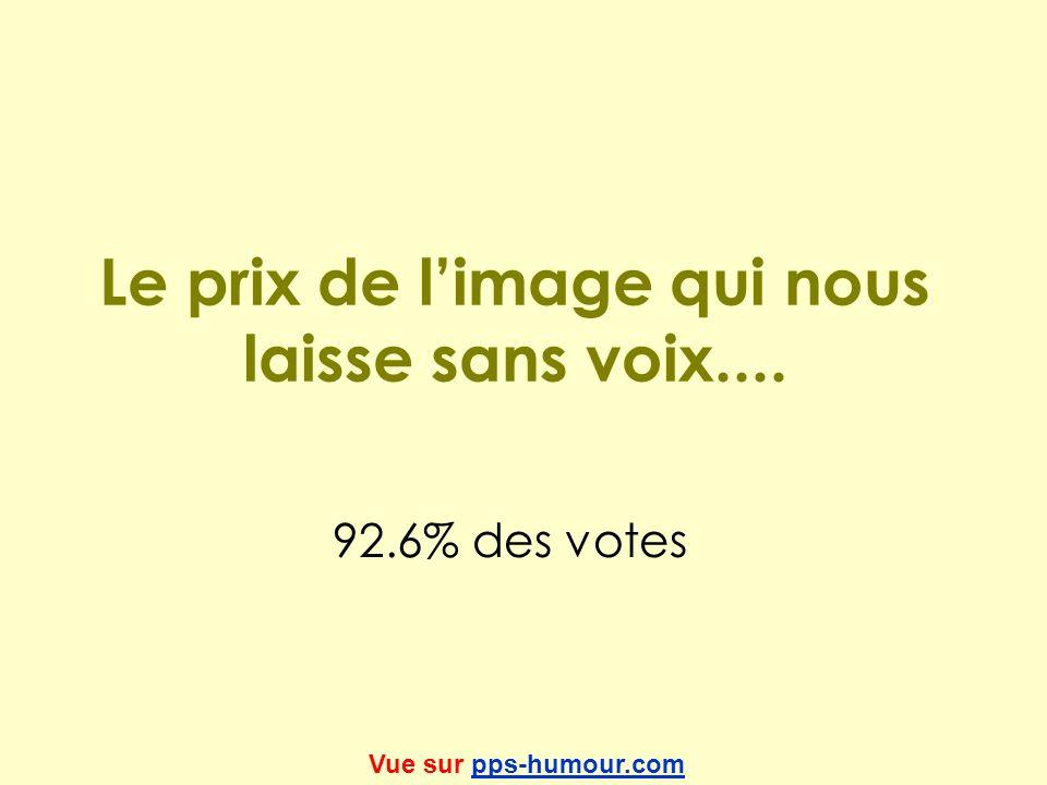 Le prix de limage qui nous laisse sans voix.... 92.6% des votes Vue sur pps-humour.compps-humour.com