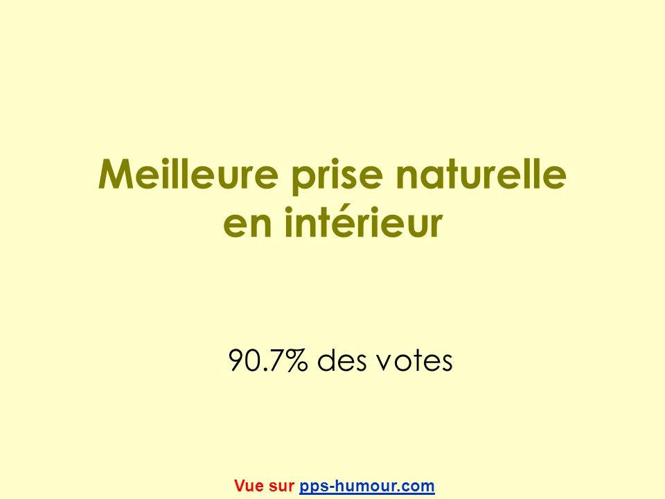 Meilleure prise naturelle en intérieur 90.7% des votes Vue sur pps-humour.compps-humour.com