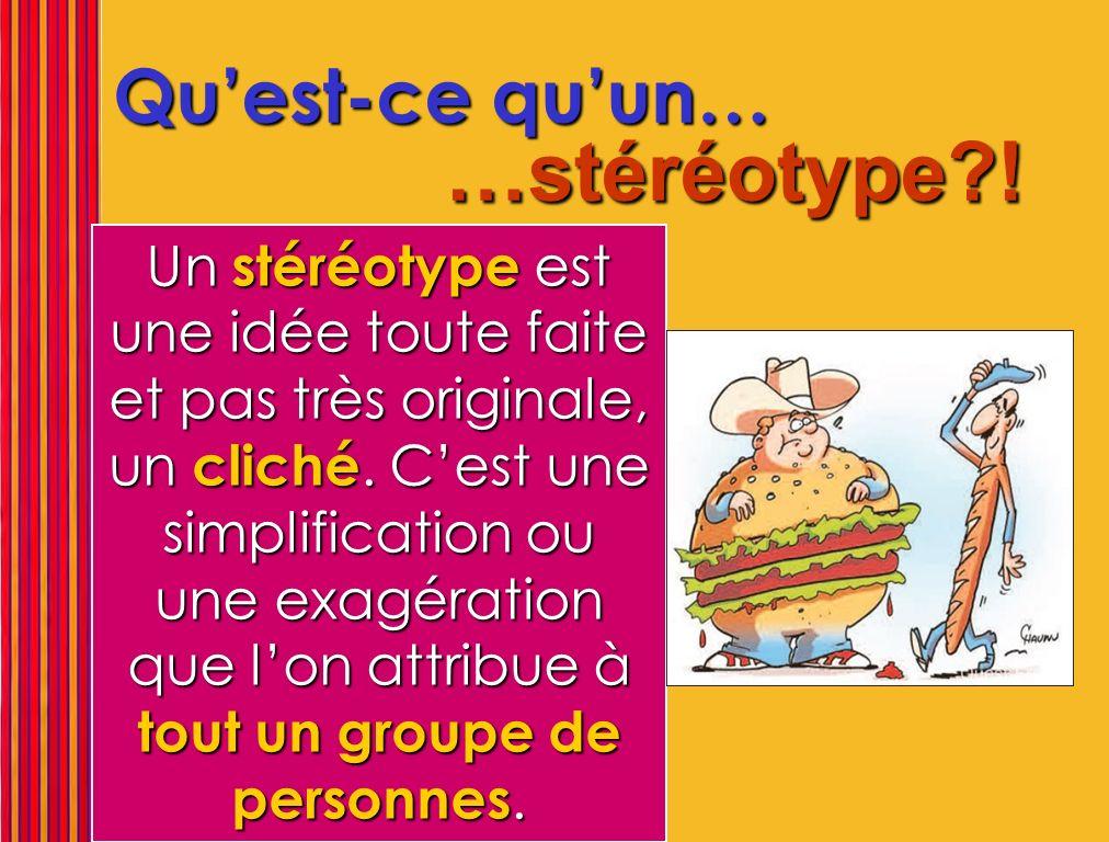 Le stéréotype appartient à celui qui le propage, pas à celui qui en est la cible…