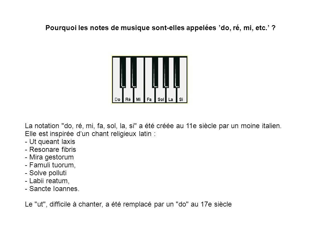 Pourquoi les notes de musique sont-elles appelées do, ré, mi, etc. ? La notation